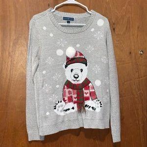 Karen Scott (Macy's) Snow Bear Sweater. Size L